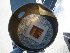 Oops forgor, fire brick combustion chanber in steel drum with vermiculite. Combustion Chamber, Steel Drum, Rocket Stoves, Sustainability, Brick, Oven, Pizza, Fire, Design