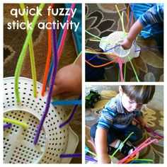 $1.50 for pipe cleaners, 1 plastic colander, watching the kids use their imagination....priceless.