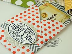 www.PattyStamps.com - envelope punch board gift card holder DIY project with Stampin Up designer paper and embellishments