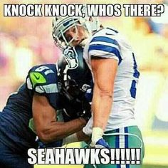 Golden Tate of the Seahawks lights up Sean Lee of the Cowboys with a blindside block. That's just awesome football right there.