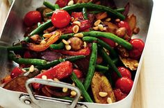 Green Bean and Roasted Vegetable Salad