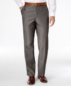 6a0abbf3 INC International Concepts Men's Traveler Nanotex Flat-Front Pants, Created  for Macy's & Reviews - Pants - Men - Macy's