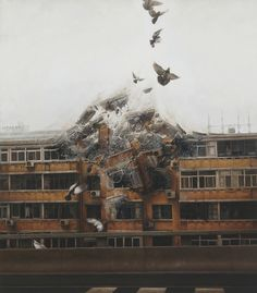 "Jeremy Geddes | ""BeginAgain"" (2012), óleo sobre tela"
