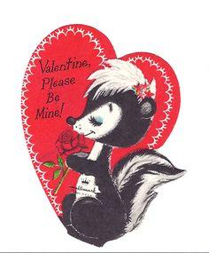 Hallmark Skunk vintage valentine.