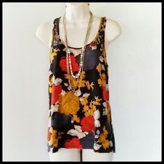 Volcan Tank Volcan floral print tank w/ lace trim. Loose and flowy. 100 % Rayon. Great condition. Volcom Tops Tank Tops