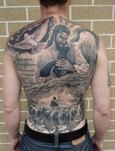 50 Jesus Tattoos for the Faith, Love, Sacrifices and Strength Hello! Here we have nice wallpaper about jesus tattoo designs on back. Back Tattoos For Guys, Full Back Tattoos, Great Tattoos, Beautiful Tattoos, Body Art Tattoos, Tatoos, Jesus Tattoo Design, Design Tattoo, Tattoo Designs Men