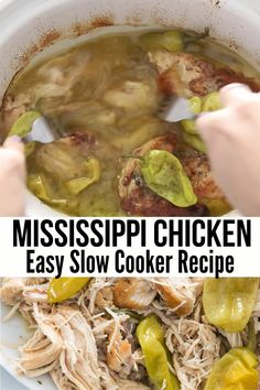 This Tender Flavorful Crock Pot Mississippi Chicken Keto Low Carb is a quick and easy weeknight dinner you ll want to make over and over again Made with just 5 ingredients it is simple yet delicious slow cooker recipes keto recipes keto lowcarb # Keto Crockpot Recipes, Slow Cooker Recipes, Diet Recipes, Cooking Recipes, Fast Crock Pot Recipes, Crock Pit Meals, Easy Crock Pot Meals, Pasta Recipes, Chicken Breast Recipes Slow Cooker