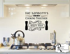 Kitchen Decal- Cooking Together Kitchen Wall Decal-Kitchen Wall Decor-Kitchen Signs-Cooking Stickers