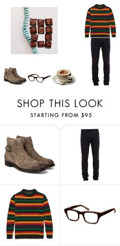 """""""""""I don't think my parents liked me. They put a live teddy bear in my crib."""""""" by franzii-van-rieen on Polyvore featuring Officine Creative, Lanvin, The Elder Statesman, Warby Parker, Parra, men's fashion und menswear"""