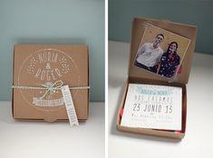 Invitaciones de boda originales — Caja de Carton