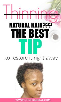 Hair growth secrets to properly care and grow hair longer and faster - Thin fine Natural Hair. Fine Natural Hair, Natural Hair Regimen, Natural Hair Growth, Natural Hair Styles, Long Hair Styles, Grow Hair Back, Grow Long Hair, Thinning Hair Remedies, Hair Loss Remedies