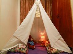 wikiHow to Make a Teepee Bed Nook -- via wikiHow.com