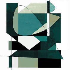 8 x 8 print teal art geometric print modern by AmyLighthall, $20.00
