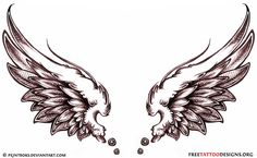 I'm getting this on the inside of my wrist in a couple weeks... 1 wing black for my grandpa and 1 wing blue for my grandma (favorite colors)