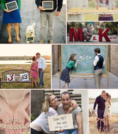 Save the Date photo ideas....I like the one on the bottom haha