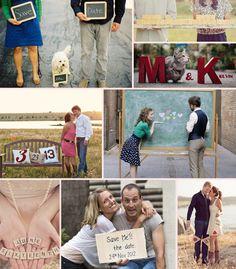 Save the Date photo ideas....I like the one on the bottom haha