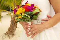 Bridal Bouquet Pictures - Roses - pink-yellow-wedding-flowers