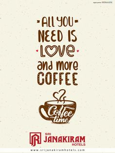 All you need is love and more coffee in this lovable weather.  #srijanakiram #evening #special #coffee #love