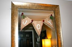 DIY JOY Garland http://prettypenny4306.blogspot.com/2011/12/diy-joy-garland.html
