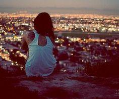 Watching city lights.