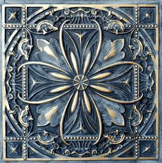 Ceiling tile Faux tin Navy gold public house decor wall panel for sale online