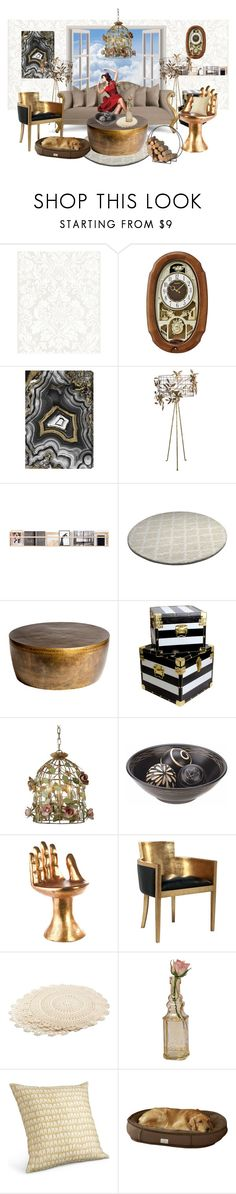 """""""A room in the sky"""" by incidentallyimadesigner ❤ liked on Polyvore featuring interior, interiors, interior design, home, home decor, interior decorating, Seiko, Oliver Gal Artist Co., Stray Dog Designs and Christopher Guy"""