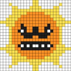 Super Mario 3 Sun Perler Bead Pattern   Bead Sprites   Characters ...