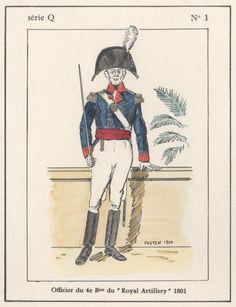British; 4th Battalion Royal Artillery, Officer, Egypt, 1801