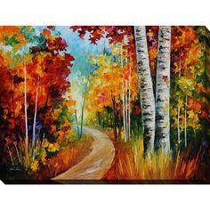 <li>Artist: Leonard Afremov</li> <li>Title: White Birches</li> <li>Outside dimensions: 30 inches high x 40 inches wide x 1.5 inches deep</li>