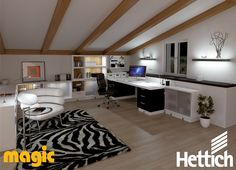 Working with light; stimulate your creativity and customise your home office with LED lighting by Magic Lighting available from Hettich. Visit our website for more inspiration & information! Led Light Design, Lighting Design, Aesthetic Value, Home Office, Corner Desk, Creativity, Design Ideas, Magic, Inspiration