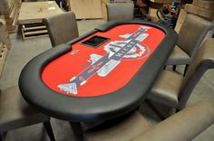 Casino Ultra Setup, the ultimate professional poker table from BBO Poker Tables. All poker tables ship free with warranty! Custom Tables, Poker Table, Furniture, Home Decor, Decoration Home, Room Decor, Home Furnishings, Home Interior Design, Home Decoration