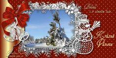 Veselé Vánoce obrázky, citáty a animace pro Facebook - ObrazkyAnimace.cz Christmas Wreaths, Christmas Cards, Burlap Wreath, Holiday Decor, Facebook, Home Decor, Xmas, Christmas E Cards, Decoration Home