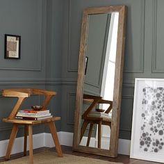 """Parsons Floor Mirror - Natural Solid Wood #westelm 72"""" x 24"""" $499"""