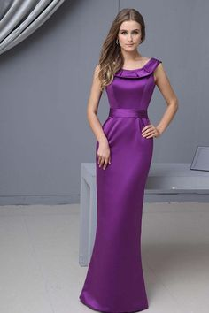 Buy 2013 Bridesmaid Dresses Purple Trumpet Mermaid Scoop Floor Length Satin latest design at online stores, high quality of cheap wedding dresses, fashion special occasion dresses and more, free shipping worldwide.