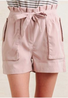 These pale pinkshorts are great for dressing up or down.
