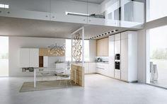 apartamento de diseño moderno con cocina blanca