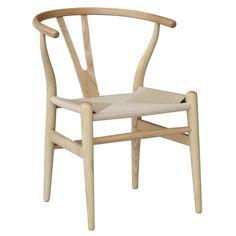 Afbeeldingsresultaat voor wishbone chair natural