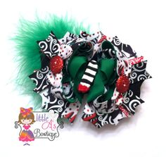 Over the top Wicked Witch bow OTT wicked witch by LittleAsBowtique, $14.00