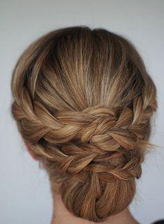 Easy Braided Updo Hair Tutorial - Renewed Style