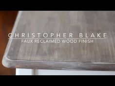 How to create a gray weathered wood grain on any surface! Use poster board to create a backdrop. Or paint a veneer table top! Easy step by step instructions ...