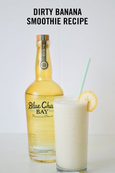 A quick and easy recipe for the blended Dirty Banana drink. Popular in caribbean resorts and perfect for summer! Banana Rum Recipes, Dirty Banana Drink Recipe, Banana Rum Drinks, Fruity Drinks, Banana Milkshake, Milkshake Recipes, Frozen Drinks, Smoothie Drinks, Fancy Drinks