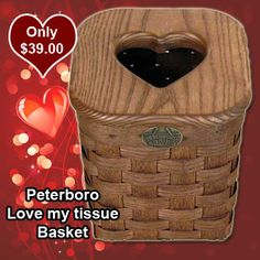 Love my tissue Basket  Our Tall Tissue Basket has been a favorite with customers ever since it was introduced. That's because it's a smart way to conceal unattractive tissues boxes. Now we offer another version of this popular basket for you to love.   On Sale: $39.00
