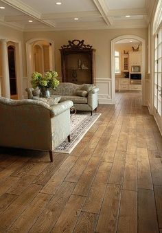 "DuraSeal Antique Brown Stain | Tuscany™ Collection 6-3/4"" (17 cm) wide, Vintage French Oak hardwood ..."
