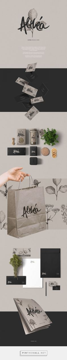 Althea Organic Herbs Branding and Packaging by Sofia Papadopoulou | Fivestar Branding Agency – Design and Branding Agency & Curated Inspiration Gallery