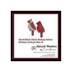 Northern Cardinals m1-M&F brick / peyote stitch patterns