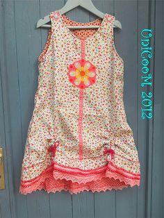 OONA Kleid Schnittmuster Mädchen nähen farbenmix
