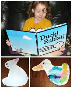 Duck! Rabbit! by Amy Krouse Rosenthal I luv this and read it in the spring time to my students!