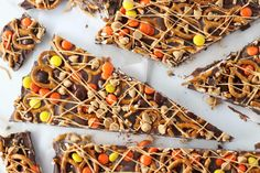 "Chocolate Peanut Butter Pretzel Bark will be your new ""wow"" treat. Everything…"