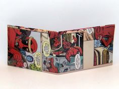 Comic Book Wallet// Deadpool steals a car, $4.00