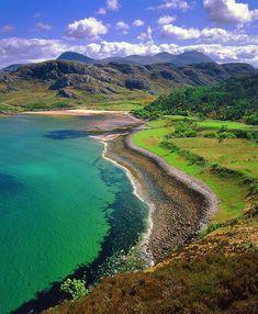 Gruinard Bay, Scotland - pink sand beaches..